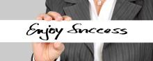 Foto con las palabras Enjoy Success